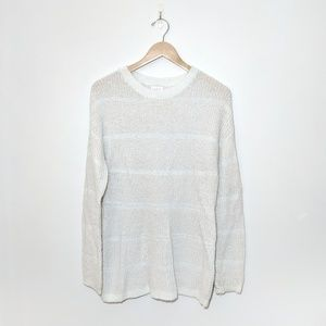 Ingrid & Isabel Maternity Sweater White and silver